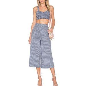 TulaRosa Blue Gingham Summer pant and Shirt set M